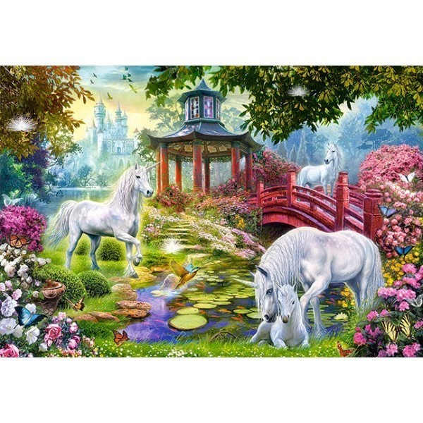 Puzzle Verano de Unicornios de 1500 piezas