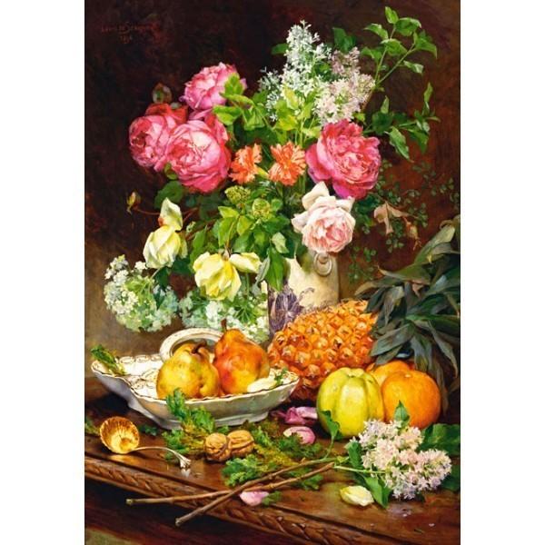 Puzzle Rosas en un Florero de 1500 piezas