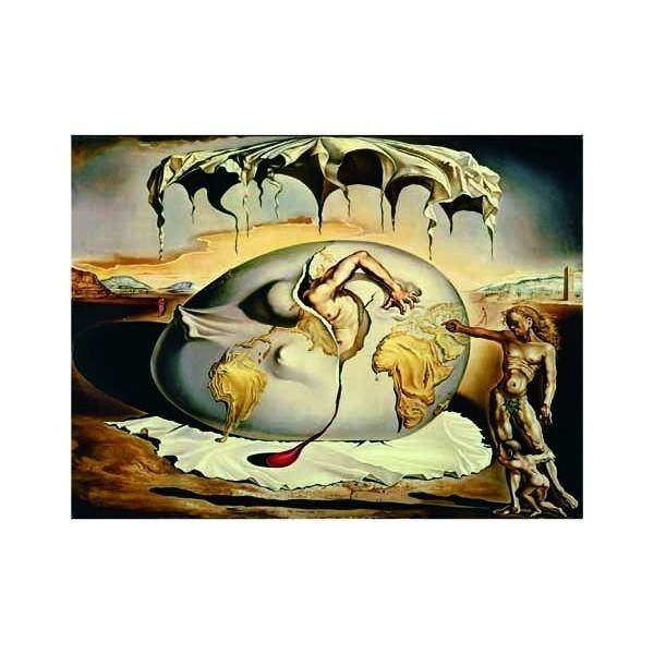 Puzzle Geopolítica Niño Viendo el Nacimiento del Hombre Nuevo de 1500 piezas
