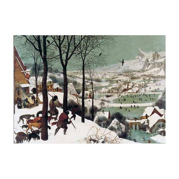 Puzzle Cazadores en la Nieve de 2000 piezas