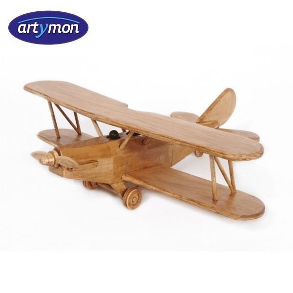 Kit construccion en madera Avión biplano