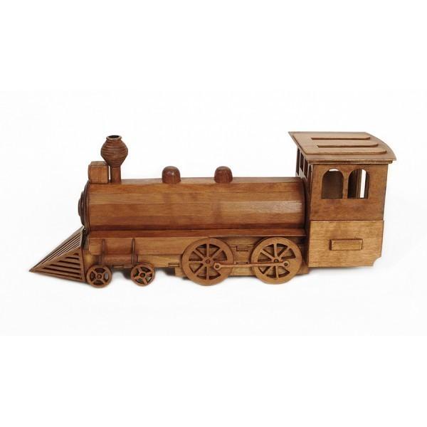 Kit construccion en madera Locomotora