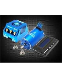 Recambio de coche radiocontrol Combo-M5A 1/8 (Xerun 150A-SD+Motor 4168SD+LCD Program Box) (Blue edition)