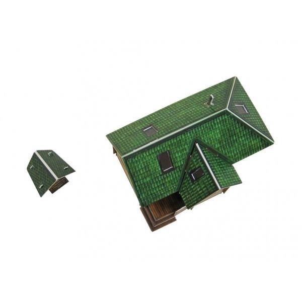 Puzzle 3D Casa Jardin