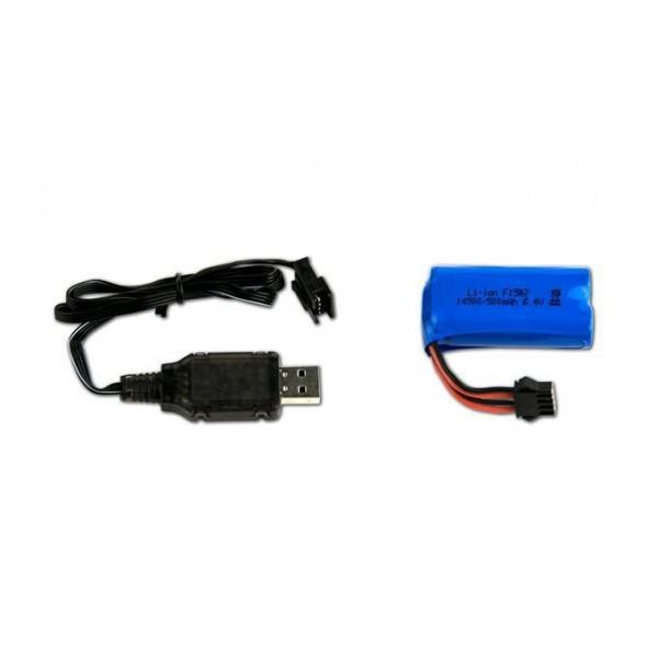 Recambio Cargador USB + Bateria Li-ON 6,4V 500mAh
