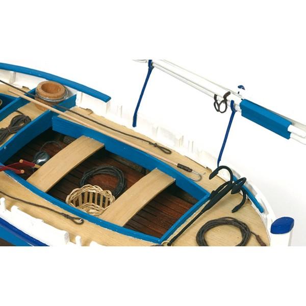 Maqueta Barca de luz Calella