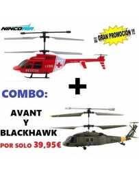 Helicoptero Nincoair 255 Avant Rescate + Blackhawk
