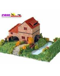 Maqueta de ceramica Casa Rural con Molino