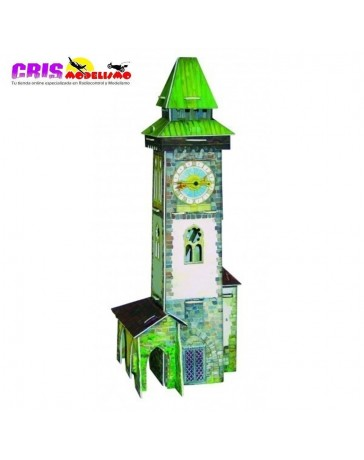 Puzzle 3D Torre con Reloj de Cuarzo