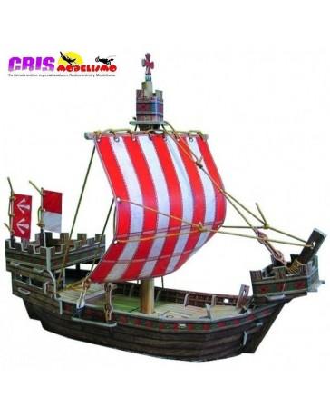 Puzzle 3D Barco Medieval