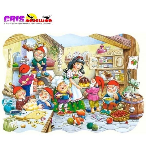 Puzzle Blanca Nieves y los Siete Enanitos de 20 piezas Maxi