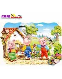 Puzzle Tres Cerditos Maxi