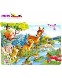 Puzzle Ciervos Pequeños Maxi