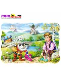 Puzzle Gato con Botas 30 Piezas
