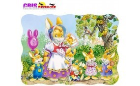 Puzzle Familia Conejo