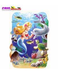 Puzzle Sirenita 30 Piezas.